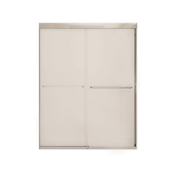 MAAX Aura 55-59-in x 71-in Chrome Mistelite Shower Door