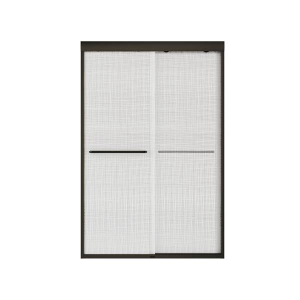 MAAX Aura 43-47-in x 71-in Dark Bronze Linen Shower Door