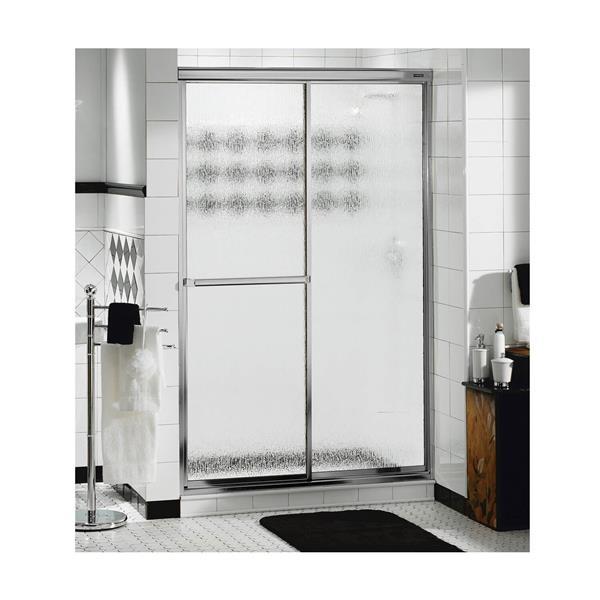 MAAX Decor Plus 41-43-in x 69-in Chrome Raindrop Shower Door