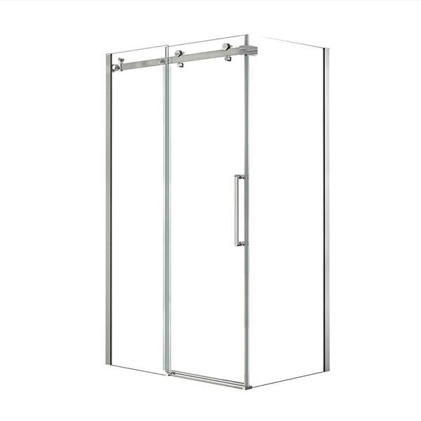 MAAX Halo 48-in x 36-in Chrome Shower Enclosure
