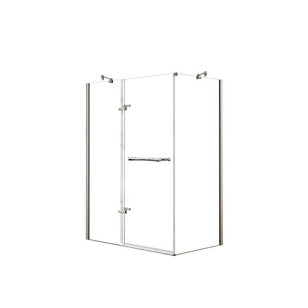 MAAX Reveal 60-in x 36-in Shower Enclosure in Brushed Nickel