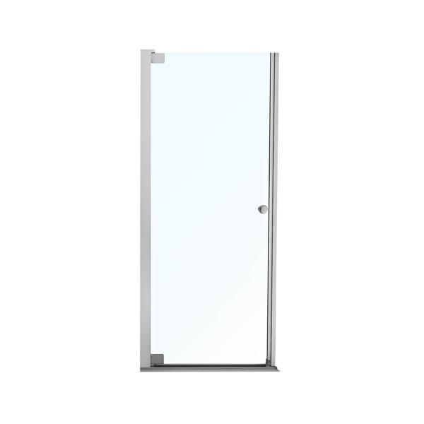 Maax Madono Clear 32-34-in x 67-in Chrome Shower Door