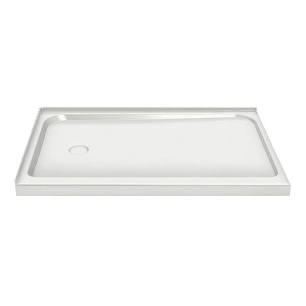 MAAX 36.25-in Rectangular Corner Shower Base with Right Drain