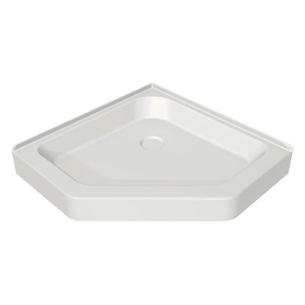 MAAX White 36.13-in Corner Shower Base