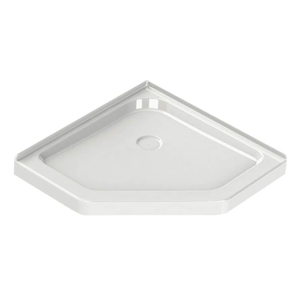 MAAX Neo Angle 42.13-in Corner Shower Base with Drain