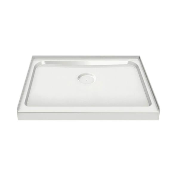 MAAX Alcove 42-In x 42-In x 3-In White Shower Base Centre Drain