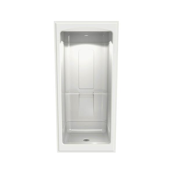 MAAX Primo Shower - 32.25-in x 39-in - Centre Drain - 1 Piece