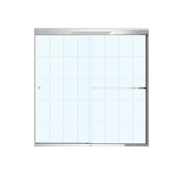 MAAX Aura Tub Door - 59-in x 57-in - Tempered Glass - Chrome