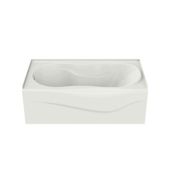 MAAX Murmur 33-in x 59.88-in Acrylic Bathtub with Left Drain