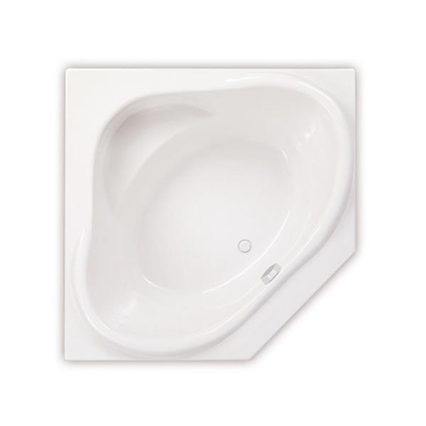 MAAX Nancy 54-in x 54-in Acrylic Bathtub with Center Drain
