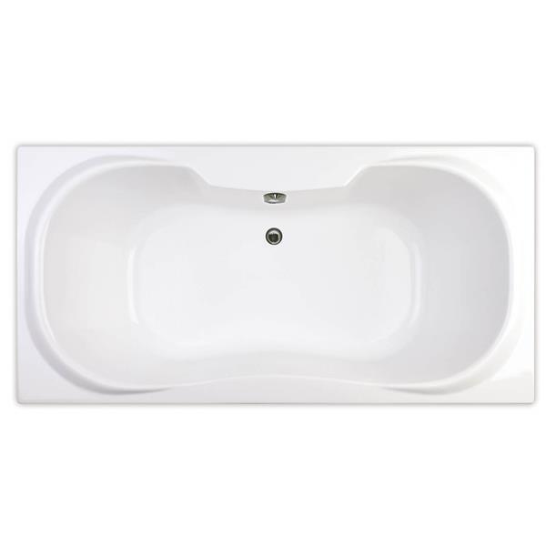 MAAX Cambridge 36 -in x 71.5-in  White Acrylic  Bathtub  with  Center Drain