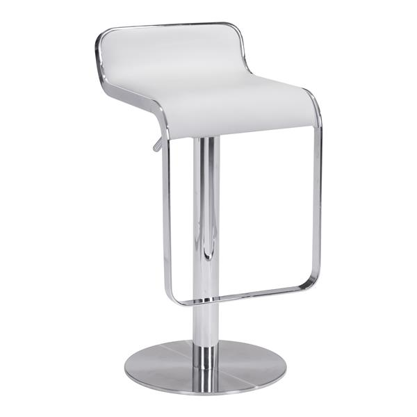 Magnificent Zuo Modern Equino Swivel Bar Stool 26 5 In White 301113 Creativecarmelina Interior Chair Design Creativecarmelinacom