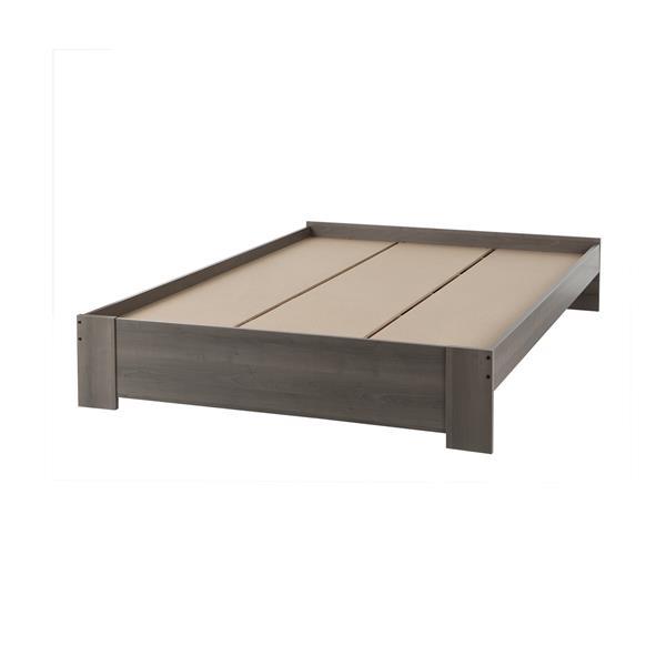 South Shore Furniture Gloria Platform Bed - Grey Maple - Queen