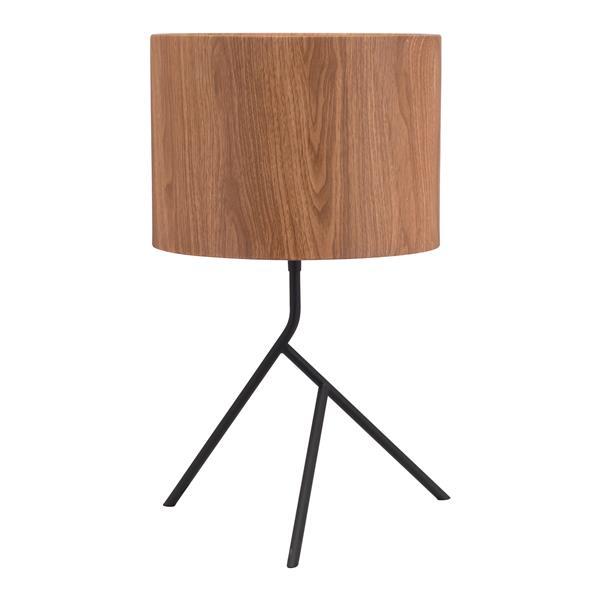 Lampe de table Sutton de Zuo Modern, 19,9 po, brun et noir antique