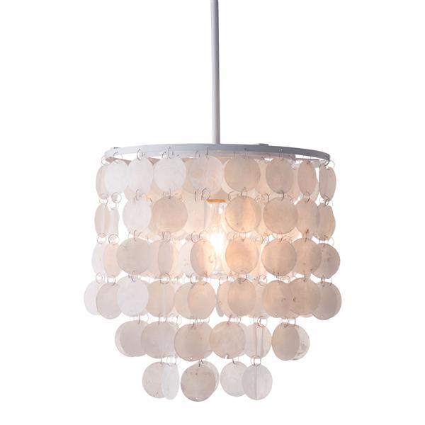 """Shell pendant light - White - 13""""x47"""""""