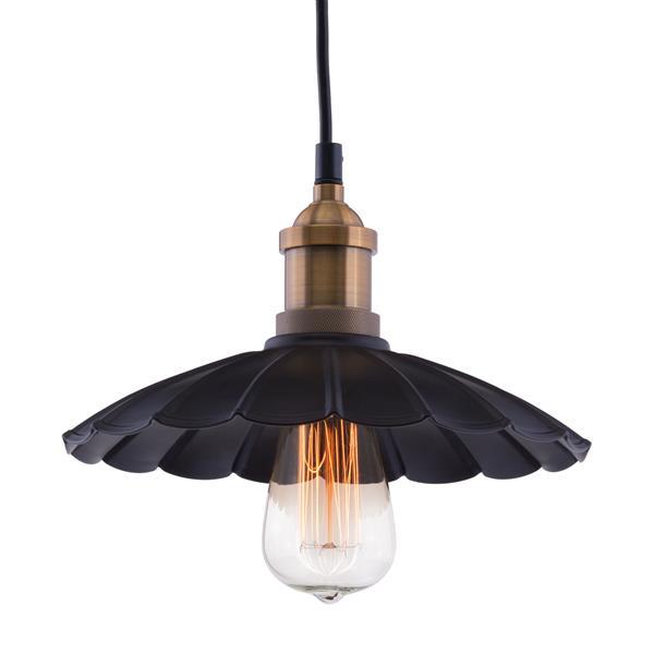 Zuo Modern Hamilton 9.8-in x 130-in Antique Black & Copper 1-Light Pendant