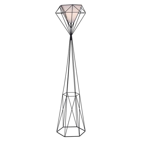 Zuo Modern Delancey 63-in Matte Black Floor Lamp