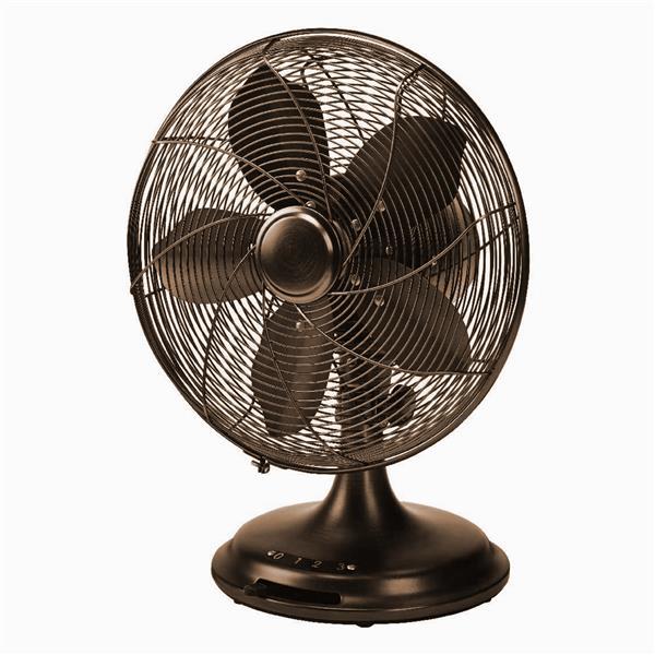 "Ecohouzng Retro Desk Fan - 12"" - Brown"