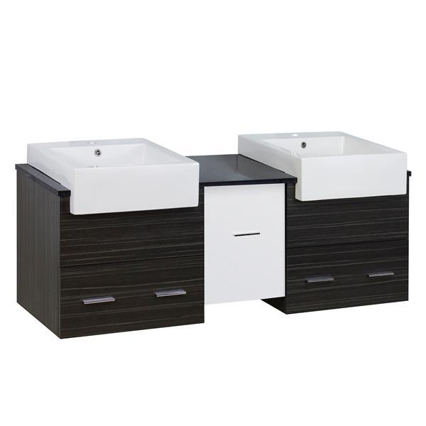 """Base de meuble-lavabo, 59,5"""", blanc/charbon"""