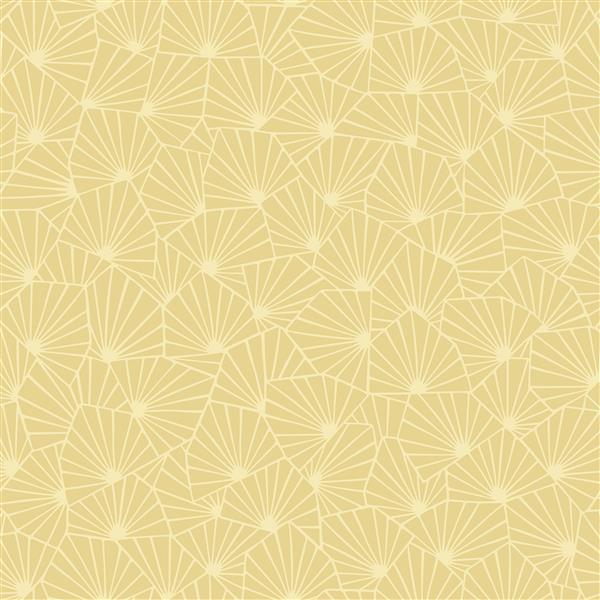 Papier peint géométrique Blomma, jaune