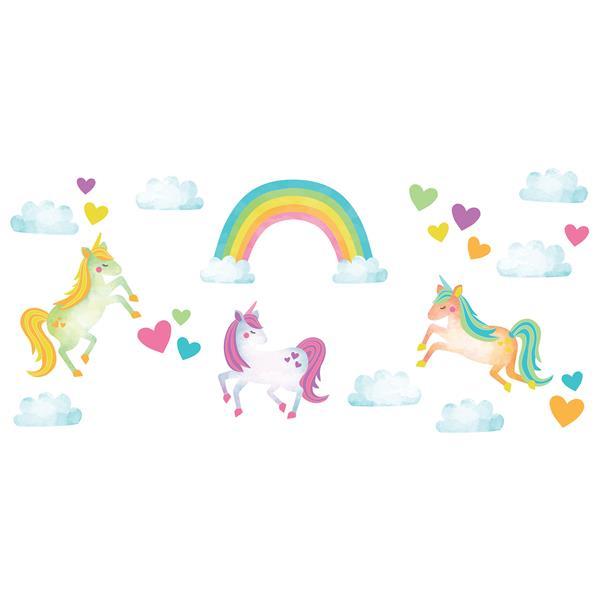 Trousse d'art mural d'amour de licornes, WallPops
