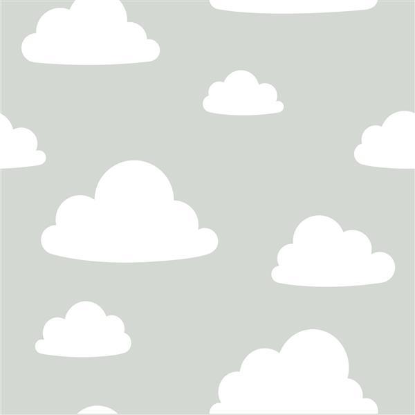 Papier ppeint nuages, gris