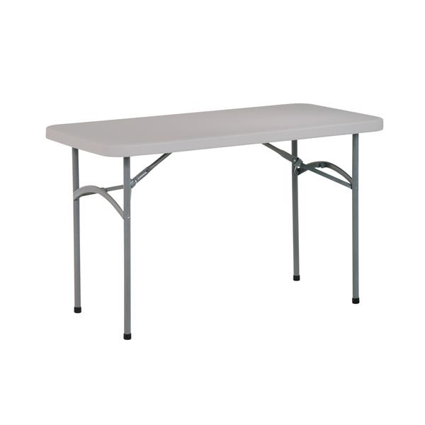 Work Smart™ 48-in Grey Rectangular Folding Table
