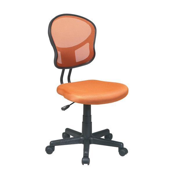 Orange Mesh Office Chair