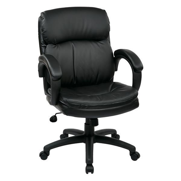 chaise en cuir noir work smart chaise en cuir noir ec9231 ec3 r no d p t