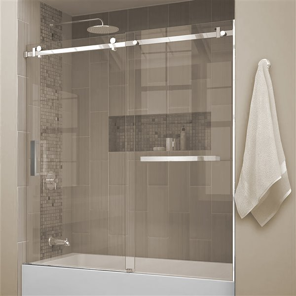 Jade Bath 60-in Sliding Bahroom Door with Towel Bar