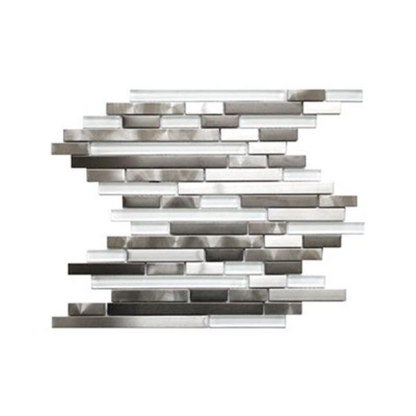 Eden Mosaic Tiles Modern Random Mix Steel - Glass II - 11-Pack