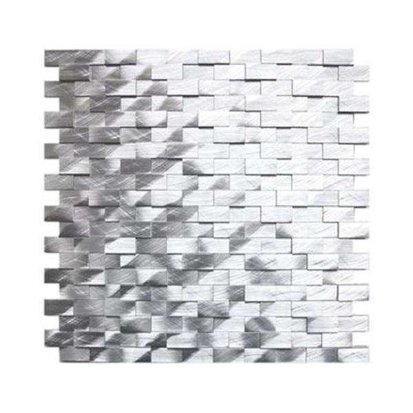Eden Mosaic Tiles 3D Raised Brick Pattern Aluminum Mosaic Tile - 8-Pack