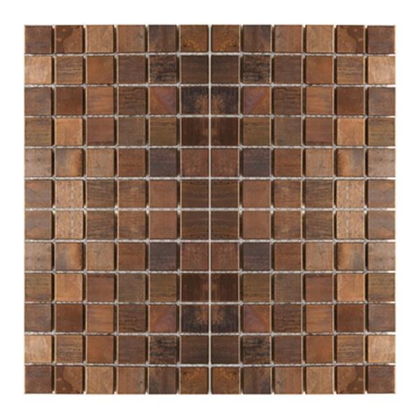 Eden Mosaic Tiles Medium Square Mosaic Tile - Antique Copper - 11-Pack