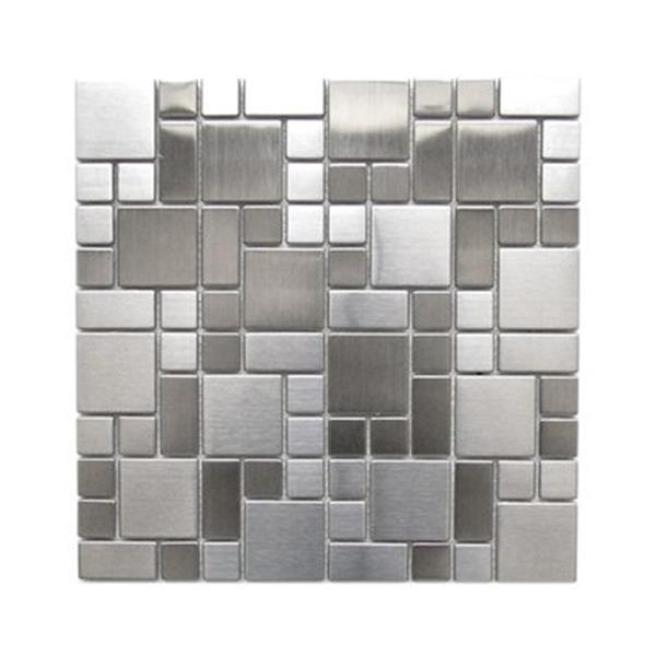 Eden Mosaic Tiles Modern Cobble Pattern Mosaic Tile - Stainless - 11-Pack