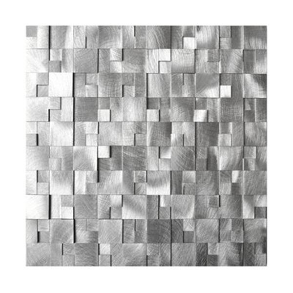 Eden Mosaic Tiles 3D Raised Cobblestone Pattern Aluminum Mosaic Tile - 8-Pack