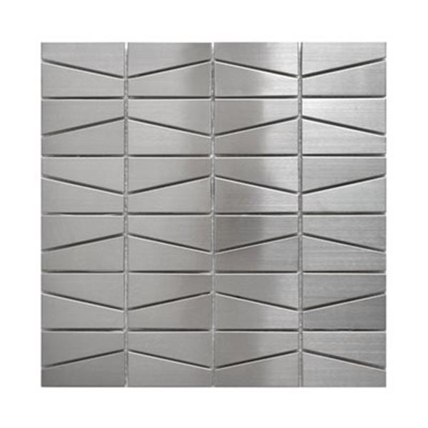 Eden Mosaic Tiles Modern Trapezoid Tile - Stainless Steel - 11-Pack