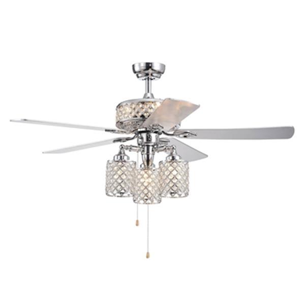 Warehouse of Tiffany Treista 6-Light Ceiling Fan - 52-in - Chrome
