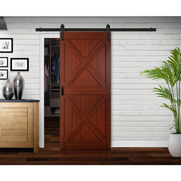 Reliabilt Renin 36 In X 84 In Cherry X Barn Door With