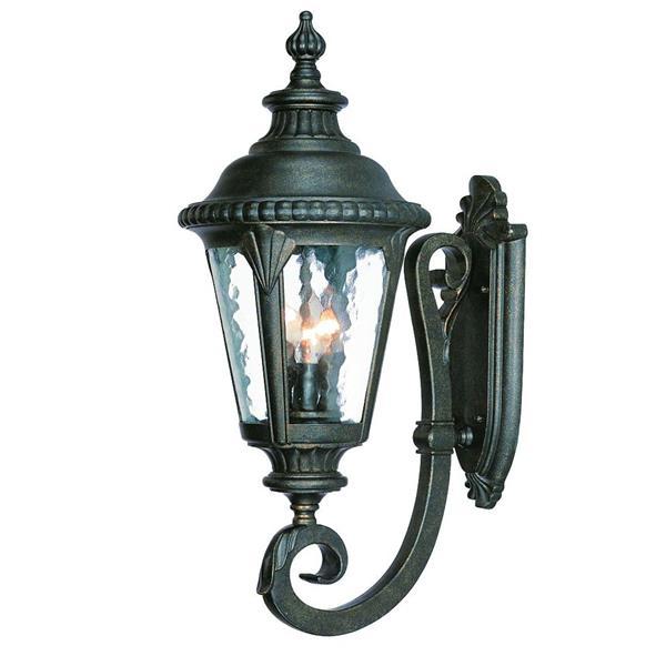 Acclaim Lighting Surrey 24.5-in Black Gold 3-Light Upward Outdoor Wall Lantern