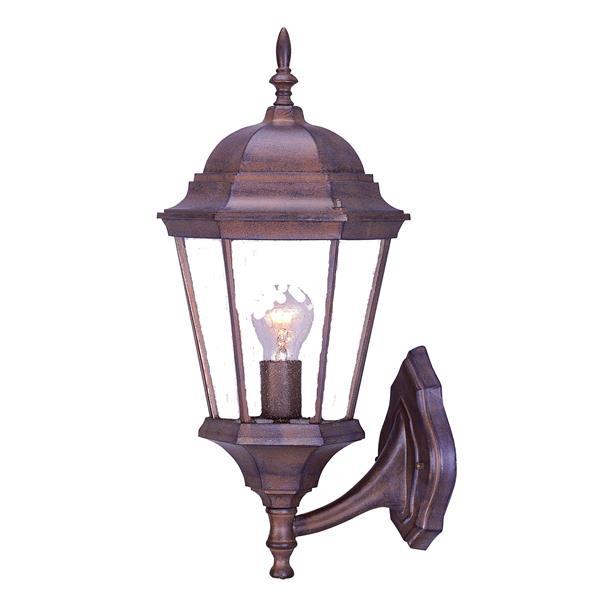 Acclaim Lighting Richmond 21.5-in Burled Walnut Clear Beveled Upward Outdoor Wall Lantern