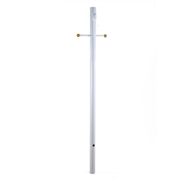 Acclaim Lighting 7-ft Gloss White Outdoor Light Post