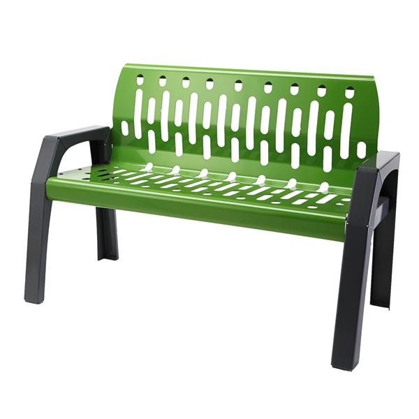 Frost Stream Steel Bench - 4' - Green