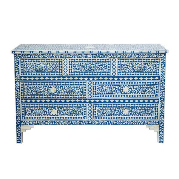 "CDI Furniture Aida Chest - 19"" x 35"" - Wood - Blue"