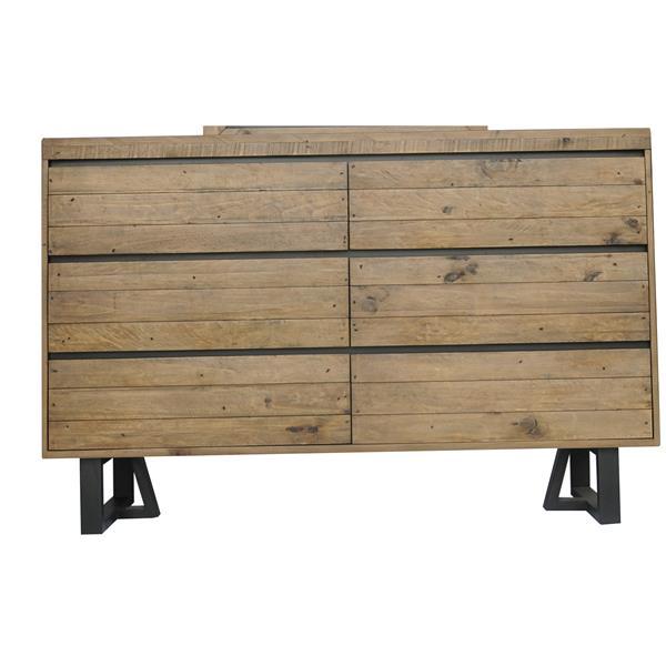 """CDI Furniture Praire Dresser - 55.91"""" x 36.06"""" - Wood - Natural"""
