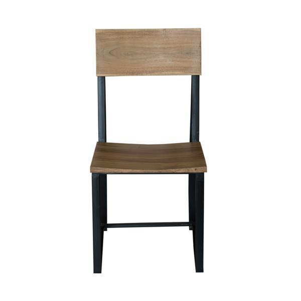 """CDI Furniture Tundra Chair - 18"""" x 40"""" - Metal - Brown - Set of 2"""
