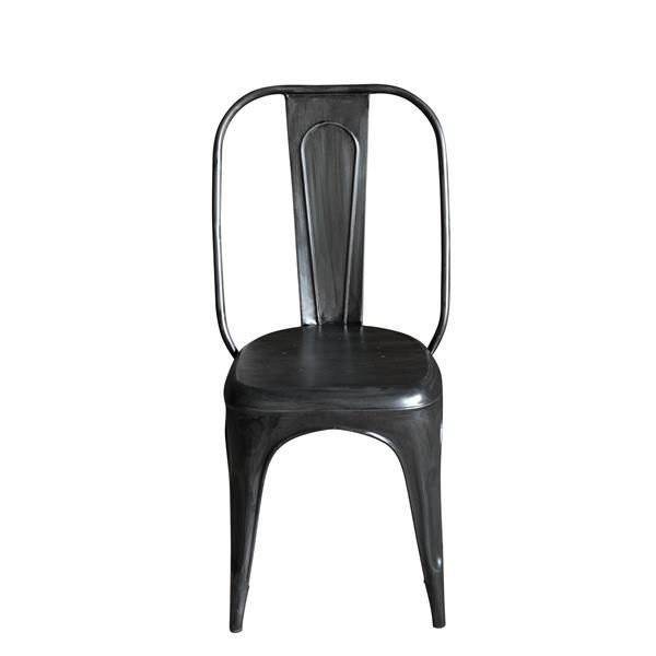 "CDI Furniture Industrial  Chair - 16"" x 37"" - Metal - Black - Set of 4"