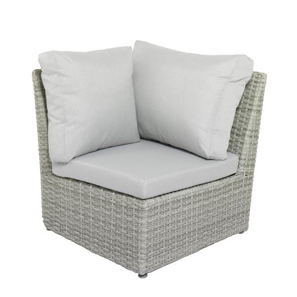 CorLiving Wicker Corner Patio Chair