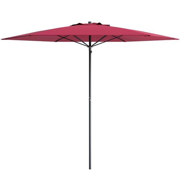 CorLiving UV and W-d Resistant Patio Umbrella - W-e Red