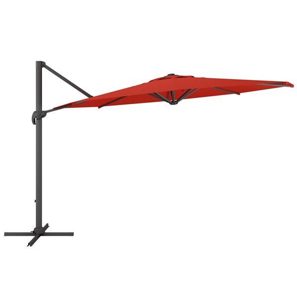 CorLiving Deluxe Offset Patio Umbrella - Crimson Red