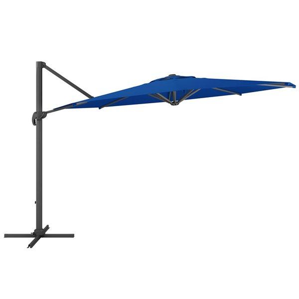 CorLiving Deluxe Offset Patio Umbrella - Cobalt Blue